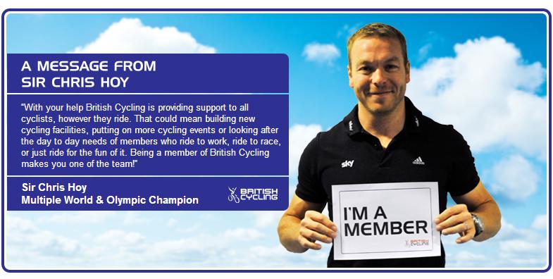 Sir Chris Hoy zachęca do zapisania się w szeregi British Cycling