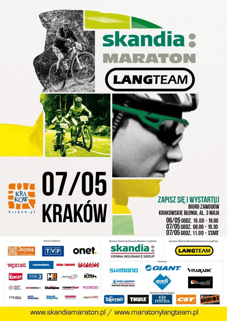 Plakat Skandia Maraton Lang Team Kraków 2016