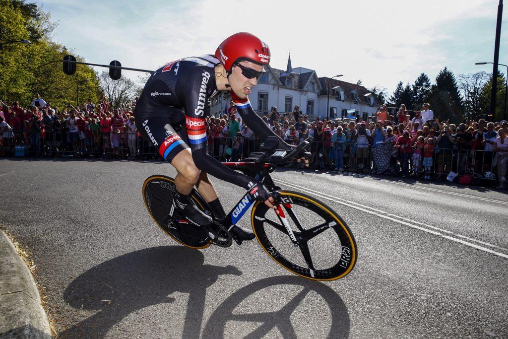 Tom Dumoulin na etapie Giro d'Italia - fot. materiały prasowe Lang Team, Roberto Bettini/BettiniPhoto?2016