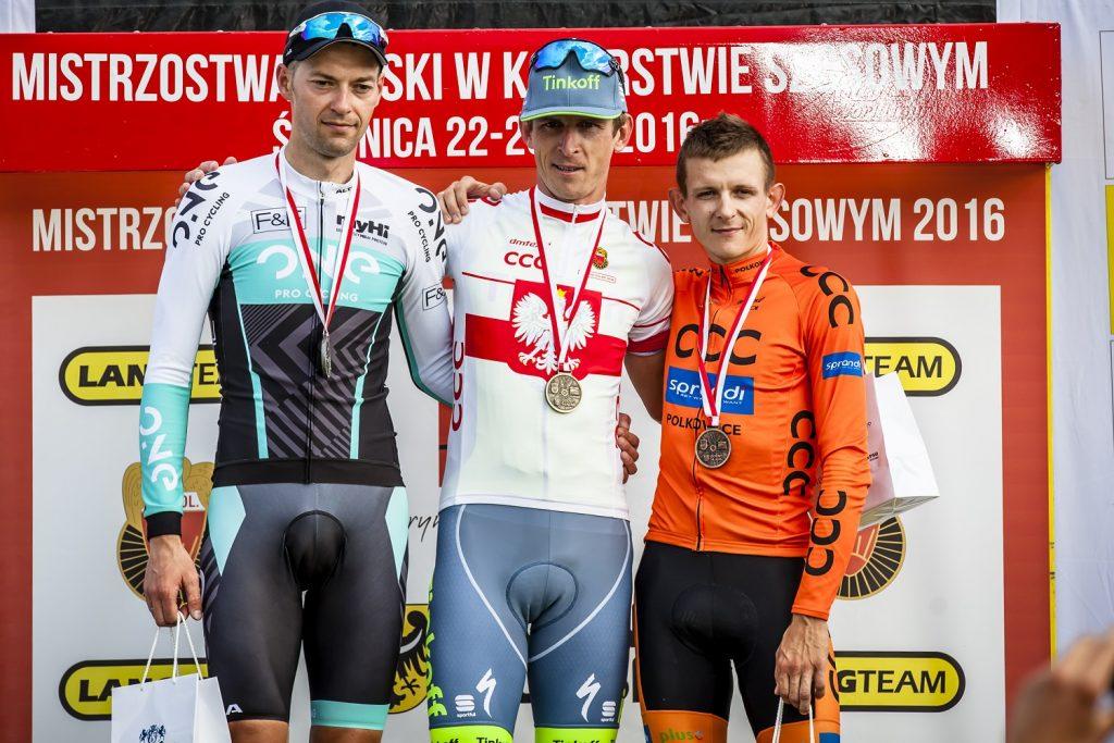 Podium Mistrzostw Polski ITT, Świdnica 2016, fot. materiały prasowe Lang Team, Dariusz Krzywański/s24.pl