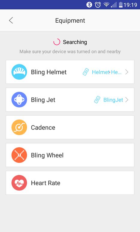 Screenshot z aplikacji LivallRiding